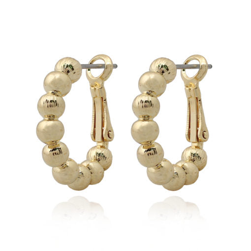 Surgical Steel Gold Balls Huggie Earrings