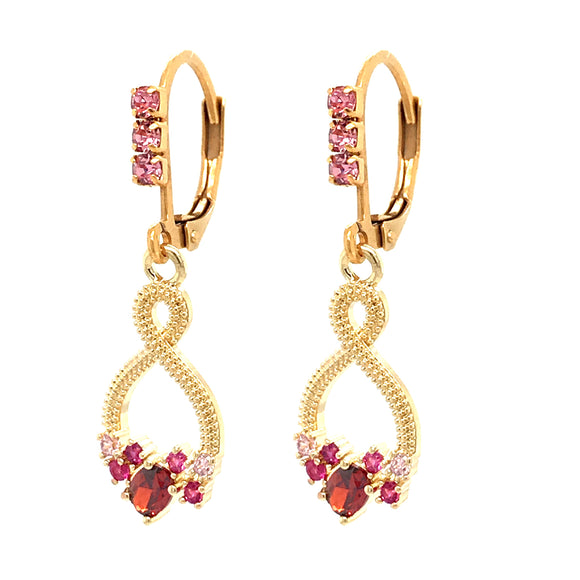 Surgical Steel Pink Twist Earrings