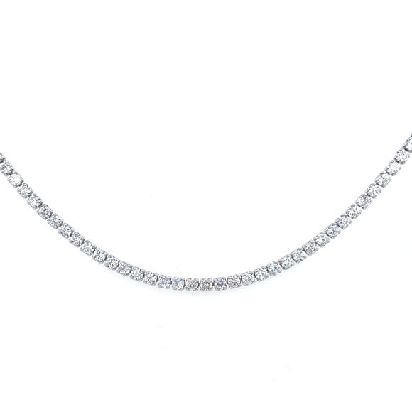 Sterling Silver Tennis Choker Necklace