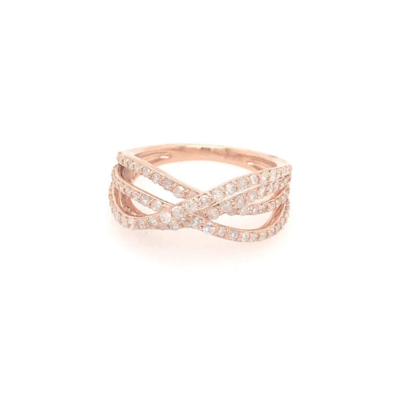 14k Rose Gold Micropave Ring