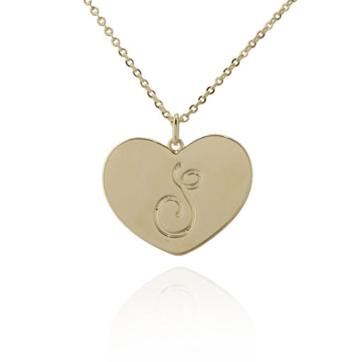 Initialled Heart Pendant