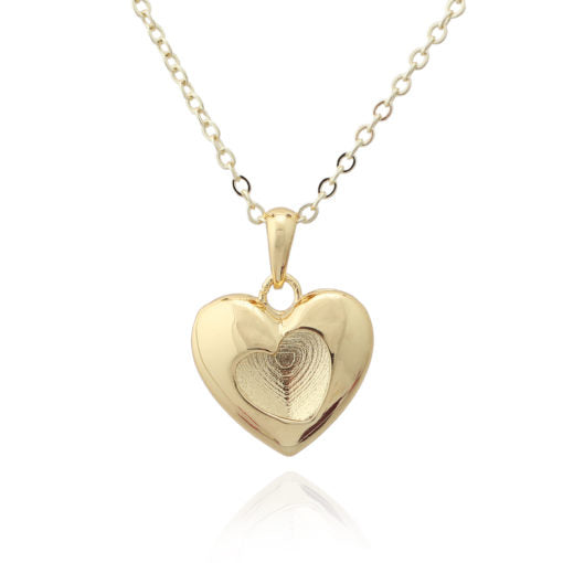 Reversible Puffed Heart Pendant
