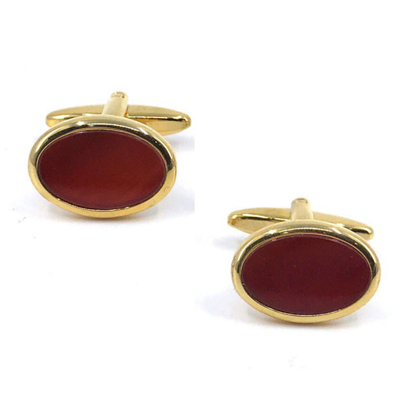 Gold Plated Scarlet Cufflinks