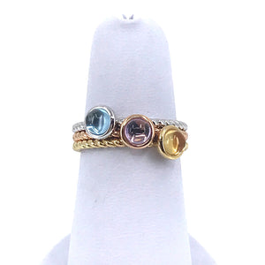 14K Gold Tricolor Rings