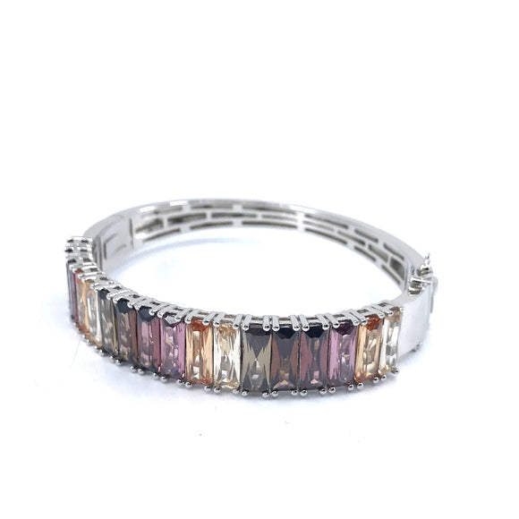 Sterling Silver Multicolored Bangle
