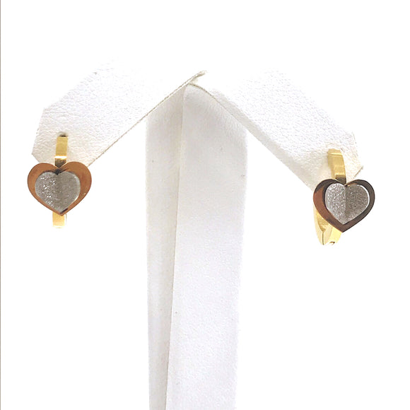 Surgical Steel Heart Huggie Earrings