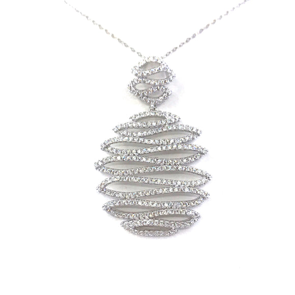 Sterling Silver Squiggle Pendant