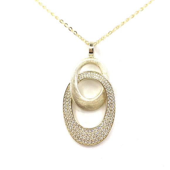 Sterling Silver Oval Pendant
