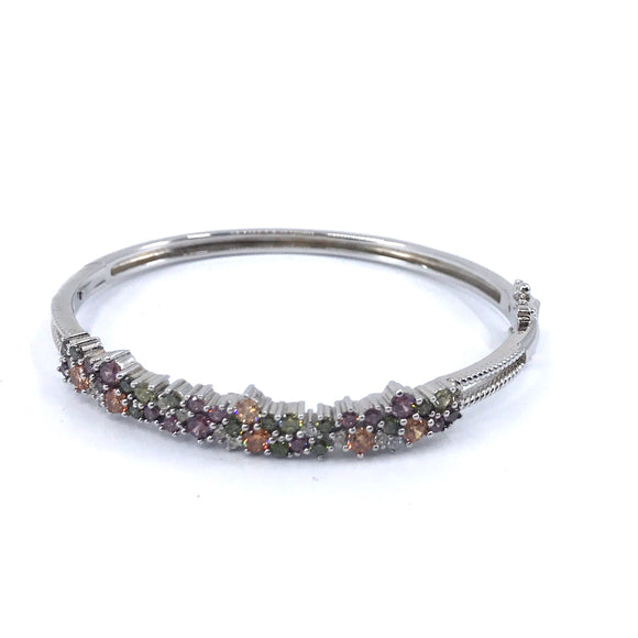 Sterling Silver Multicolor Bangle