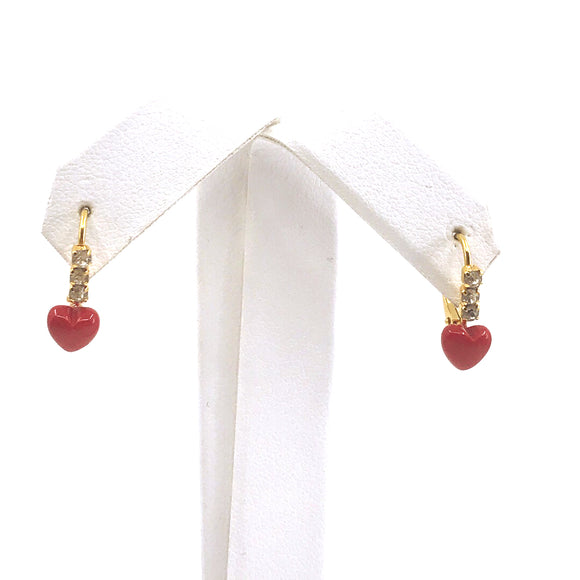 Surgical Steel Red Heart Earrings