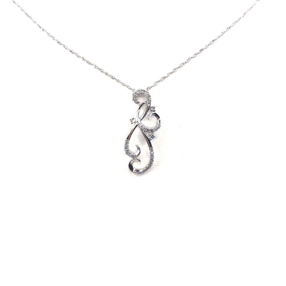 White Gold Twist Pendant