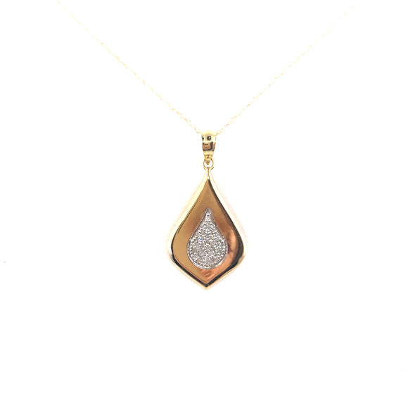 Gold Flame Pendant