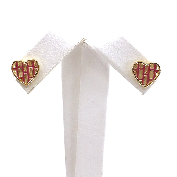 Surgical Steel Heart Studs