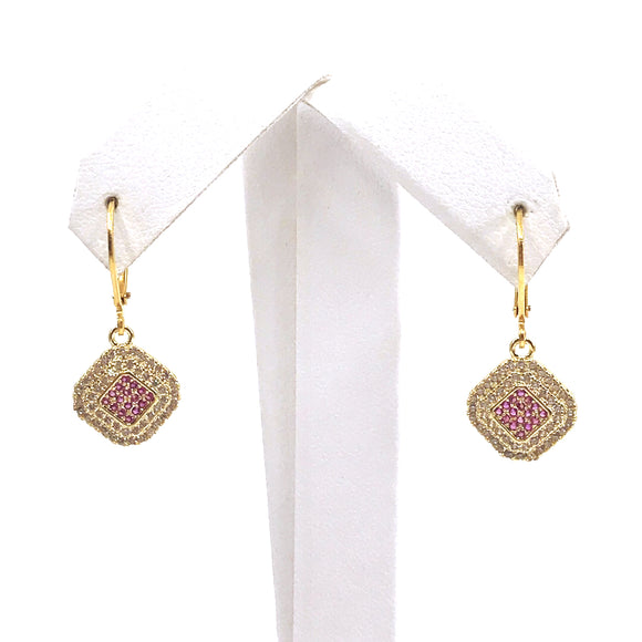 Surgical Steel Diamond Shaped Earrings
