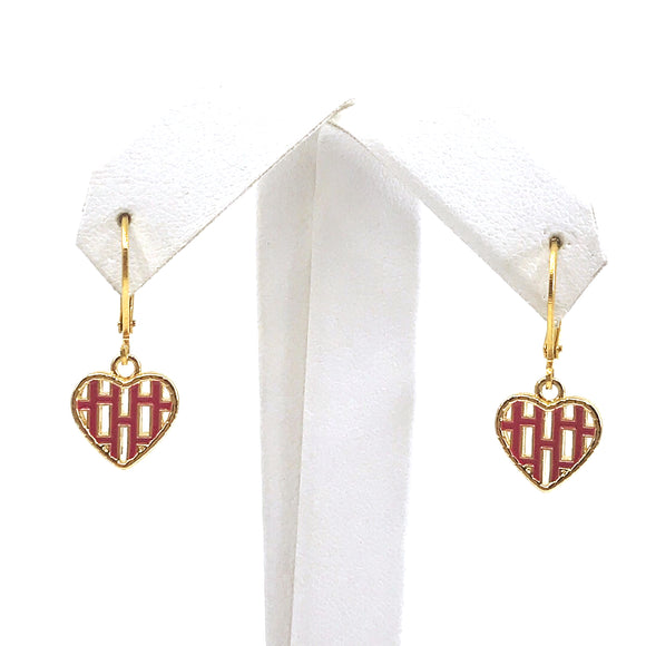 Surgical Steel Weave Heart Earrings
