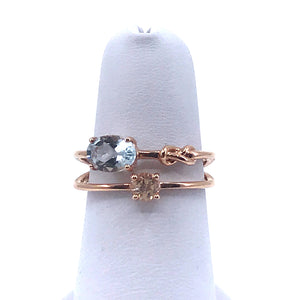 Rose Gold Aquamarine/Morganite Ring