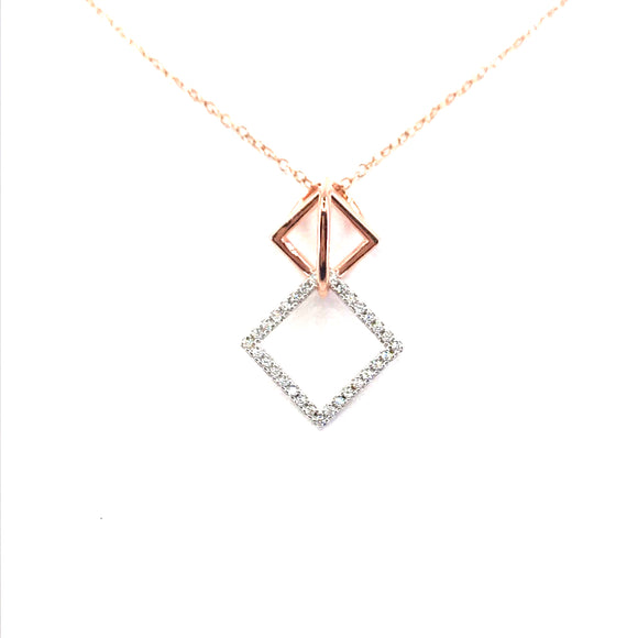 Sterling Silver Diamond-Shape Pendant