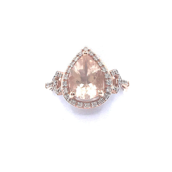 Rose Gold Teardrop Ring