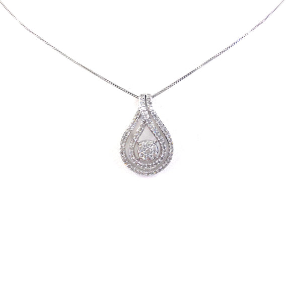 White Gold Teardrop Pendant