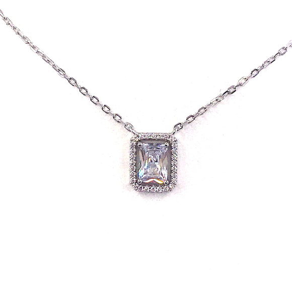 Sterling Silver Solitaire Necklace