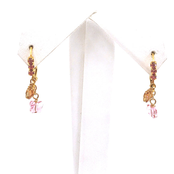Surgical Steel Butterfly Crystal Earrings