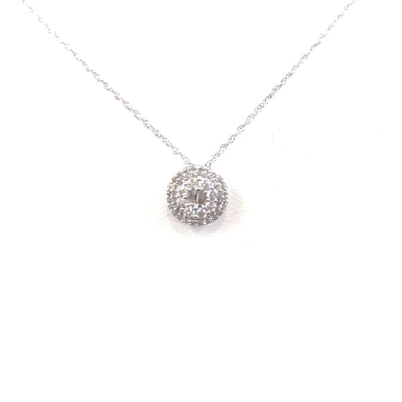 White Gold Solitaire Pendant