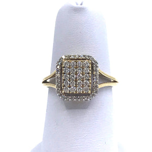 14K Gold Square Ring