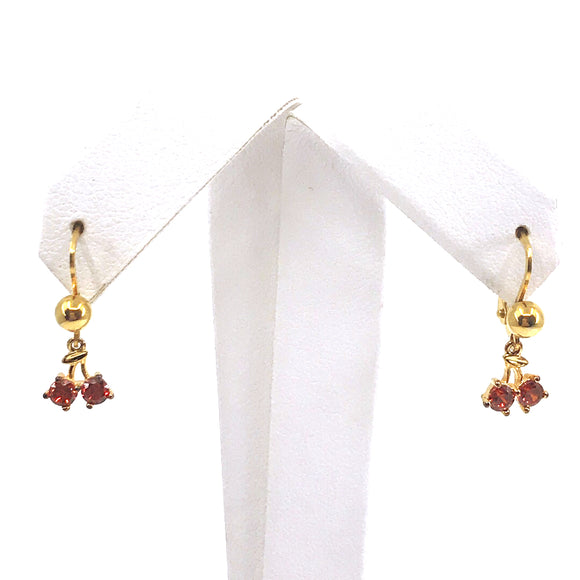 Surgical Steel Cherry Earrings