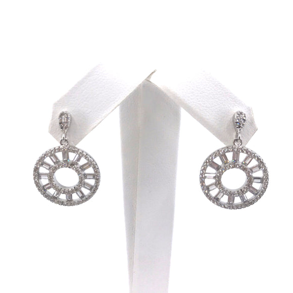 Sterling Silver Circle Earrngs