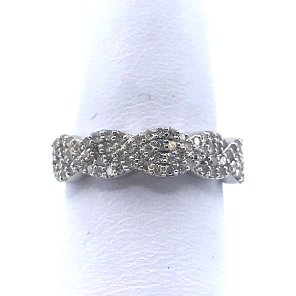 White Gold Twisted Ring