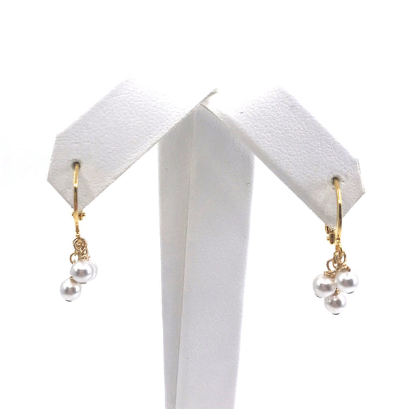 Surgical Steel Pearl Earrings