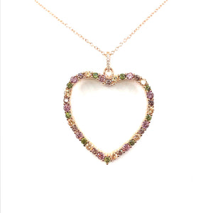 Rose Gold Plated Sterling Silver Heart Pendant