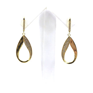 Sterling Silver Twisted Teardrop Earrings