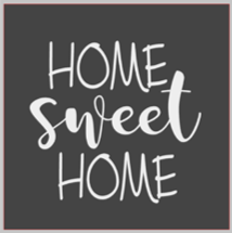 12x12 inch wood sign home sweet home