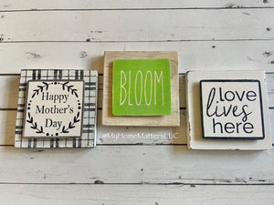 Interchangeable Mini Sign Kits