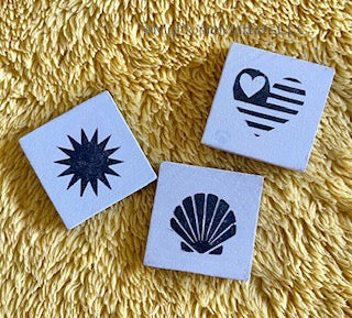 Interchangeable Mini Tiles-  Set of 3 Add on Tiles for Summer