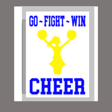 Load image into Gallery viewer, 12x16 inch wood sign Go Fight Win Cheer