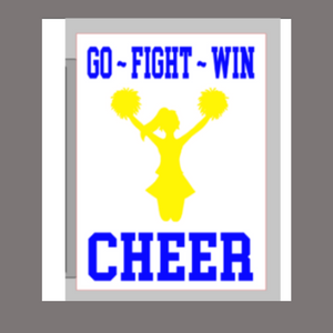 12x16 inch wood sign Go Fight Win Cheer