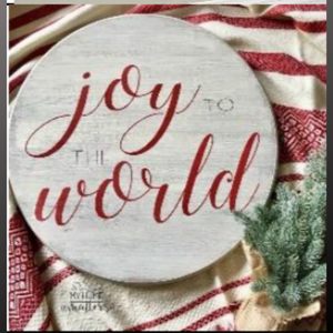 18 inch round sign kit and stencil - joy to the world