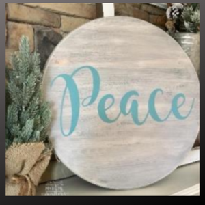 18 inch round sign kit and stencil - peace