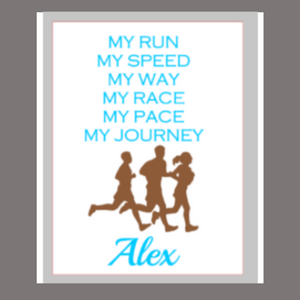 12x16 wood sign My Run, My Speed personalized