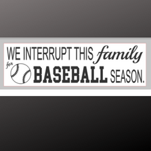 Load image into Gallery viewer, 8x24 inch sign baseball