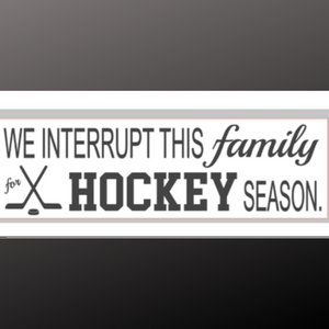 8x24 inch sign hockey