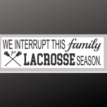 Load image into Gallery viewer, 8x24 inch sign lacrosse