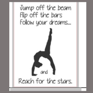 12x16 inch wood sign Jump off the beam - Reach for the stars.