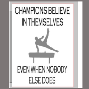 12x16 inch wood sign Champions believe in themselves evem when nobody else does.