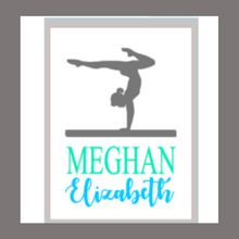 Load image into Gallery viewer, 12x16 inch wood sign personalized balance beam