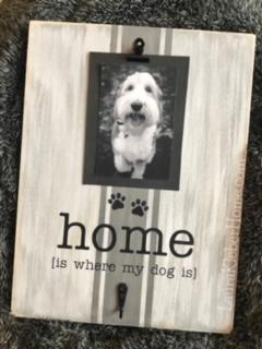 12x16 inch wood sign home is where my dog is