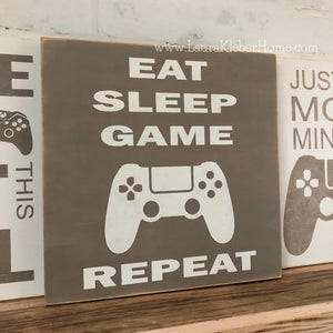 Gamer Wood Signs
