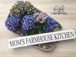 Mom's Farmhouse Kitchen Sign